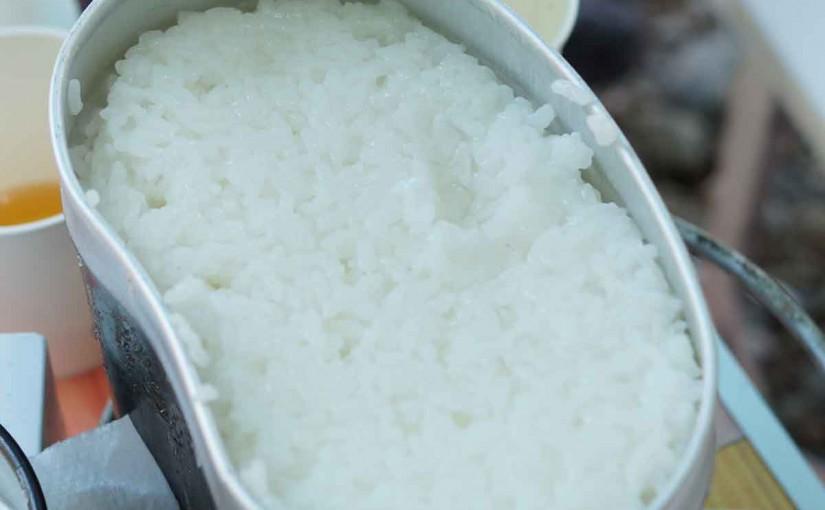 飯ごうでお米を炊くと美味しいぞ!!
