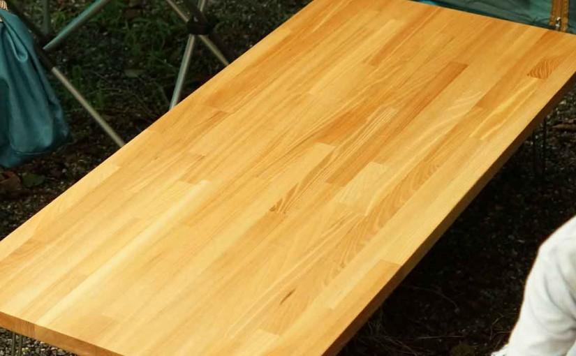 キャンプで自作テーブルを使ってみた4