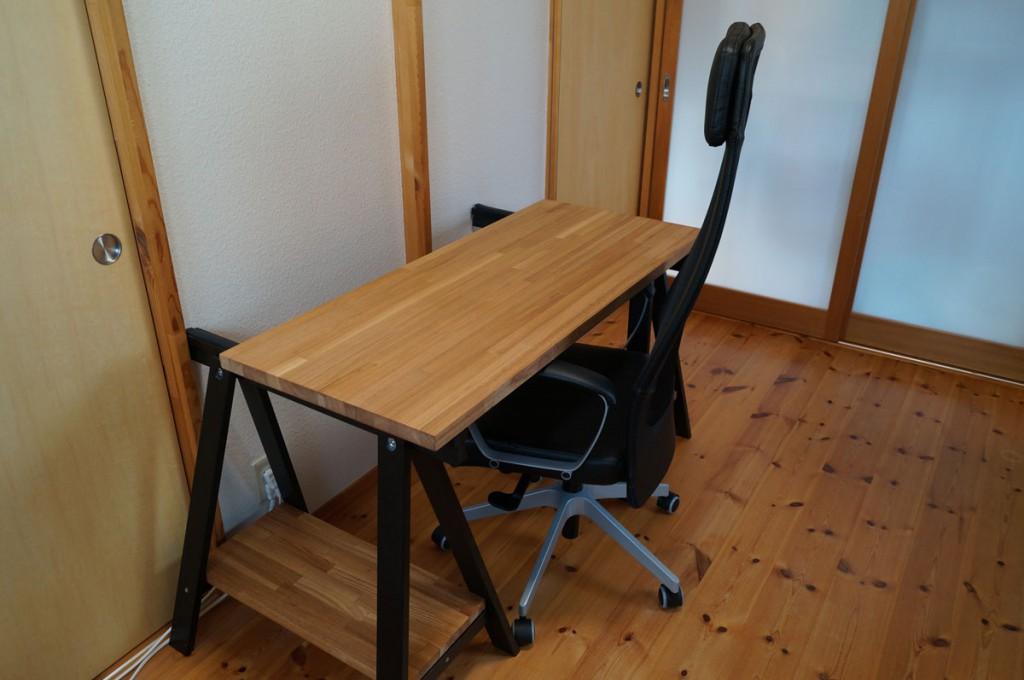 DIYで簡単、のせるだけの机8