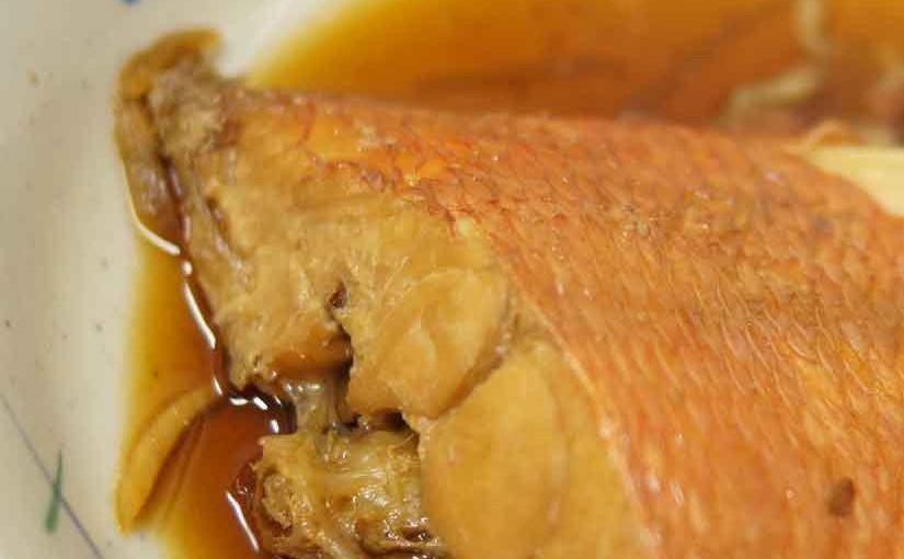 魚市場食堂の金目の煮付け1