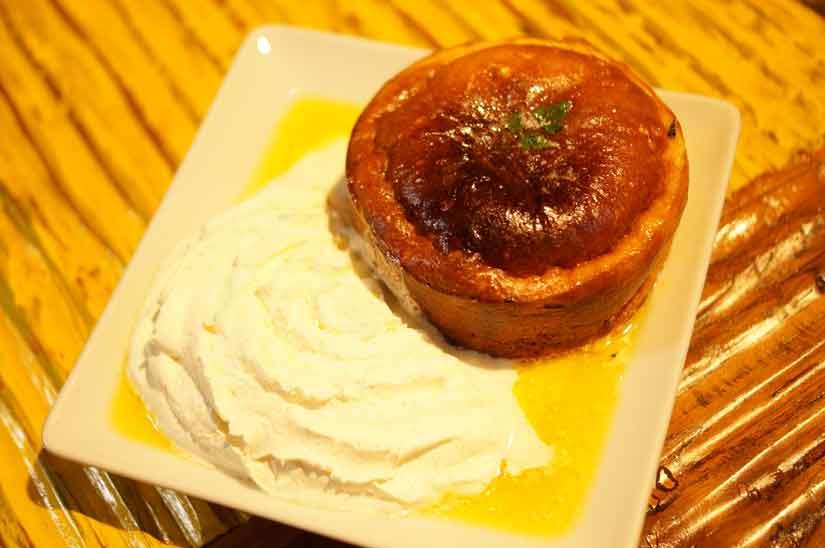 Cafe ASANのスフレホットケーキハニーバター1