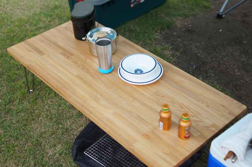 自作キャンプテーブル