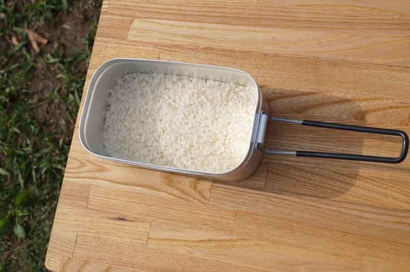 トランギア・メスティンで炊飯1