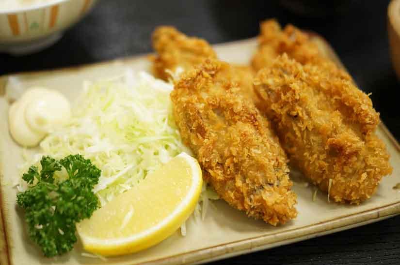 魚市場食堂さんの地魚フライ盛り合わせ3