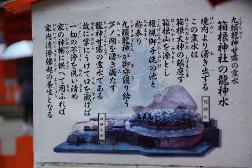 九頭龍神社新宮の龍神水